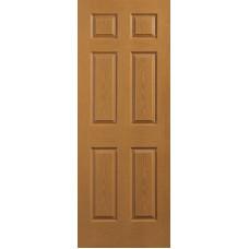 6-Panel Oak Interior Door