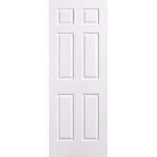 6-Panel White Interior Door