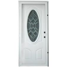 Cordell 925 Series Combination Door with Decorative Oval Window