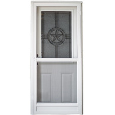 Cordell 925 Series Combination Door with Texas Star Decorative Glass